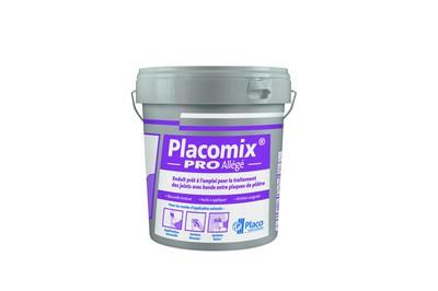 Placomix® PRO Allégé | Enduit à séchage prêt à l'emploi permettant le traitement manuel ou mécanique des joints. Le redoublement des joints se fait après durcissement complet de l'enduit et dépend essentiellement des conditions climatiques (12 à 48 heures).