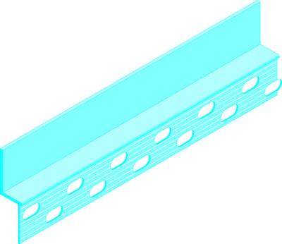 Placolistel® 106   Les profilés Placolistel® sont en aluminium extrudé prépeints. Les ailes des profilés sont percées pour faciliter leur fixation par vissage sur les ouvrages Placostil®. On peut ainsi créer encadrements, surfaces discontinues, décaissés, motifs en relief, etc.
