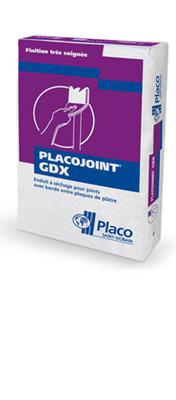 Placojoint® GDX 5kg | Enduit poudre à séchage permettant le traitement manuel ou mécanique des joints avec bande papier. Le redoublement des joints se fait après durcissement complet de l'enduit et dépend essentiellement des conditions climatiques (12 à 48 heures).