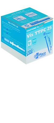 Vis TTPC 25 | Vis autoperceuse à tête trompette et pointe clou pour fixation de plaques de plâtre Placo® sur ossature Placostil® ou sur ossature bois. La longueur de la vis est de 25 mm.