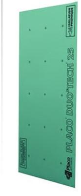 Placo® Duo'Tech® 25 Marine   Plaque de plâtre hydrofugée composée de deux parements spécifiques de 13 mm et d'un film acoustique, permettant d'atteindre des performances acoustiques exceptionnelles.