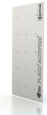 Placo® Activ'Air® BA 13 | Plaque de plâtre à 2 bords amincis intégrant l'innovation Activ'Air®.