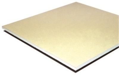 Placoplatre® BA 25 Marine   Plaque de plâtre d'épaisseur 25 mm et de largeur 900 mm, haute résistance au feu, aux chocs et à l'humidité, particulièrement adaptée à la mise en oeuvre du Concept Hospitalier.