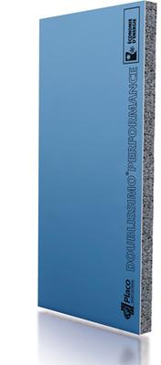 Doublissimo® Performance 4.40 13+140 | Complexe de doublage constitué d'un panneau isolant en polystyrène expansé (PSE) graphité et élastifié, associé à une plaque de plâtre Placo®.