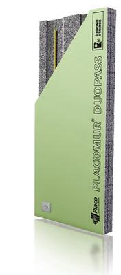 Placomur® DuoPass Marine 4.00 - 150 | Nouveau système de doublage collé, composé de deux éléments : - une