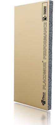 Placomur® Performance 4.40 13+140 | Complexe de doublage constitué d'un panneau isolant en polystyrène expansé (PSE) graphité, associé à une plaque de plâtre Placo®.