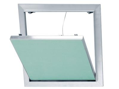 Trappe de visite alu/plaque 200 x 200 mm | trappe de visite alu accessoire pour plaque de plâtre permettant l'accès aux câbles électriques, conduits sanitaires ou installations techniques