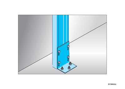 Sabot Megastil® 200 | Jonction sabot Mégastil au sol et/ou plafond sur béton