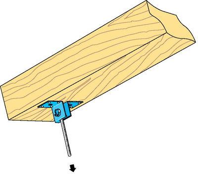 Suspente articulée Stil® SA | Suspente articulée Stil SA sous solive en rampant