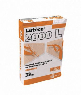 Lutèce® 2000 L 33kg | Plâtre allégé manuel Lutece 2000 L 33kg